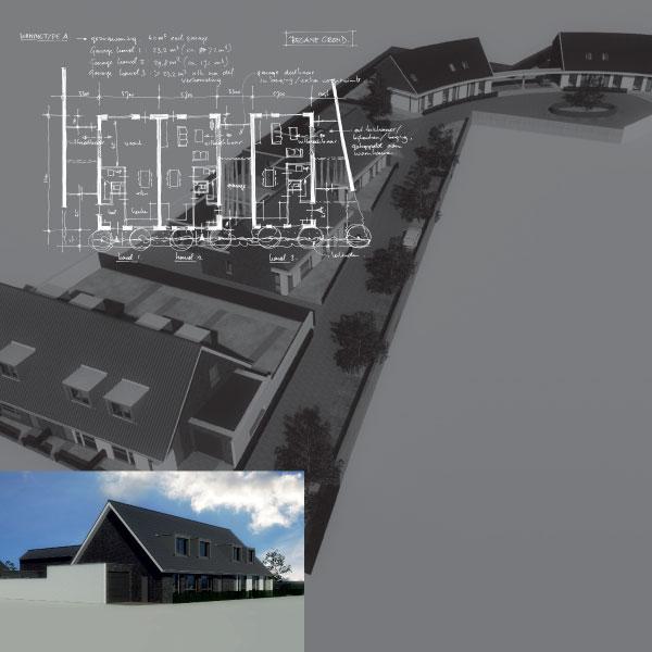 15 grondgebonden woningen aan de Kerkweg te Hulsel