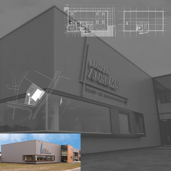 Nieuwbouw kantoor en werkplaats Ansems te Esbeek