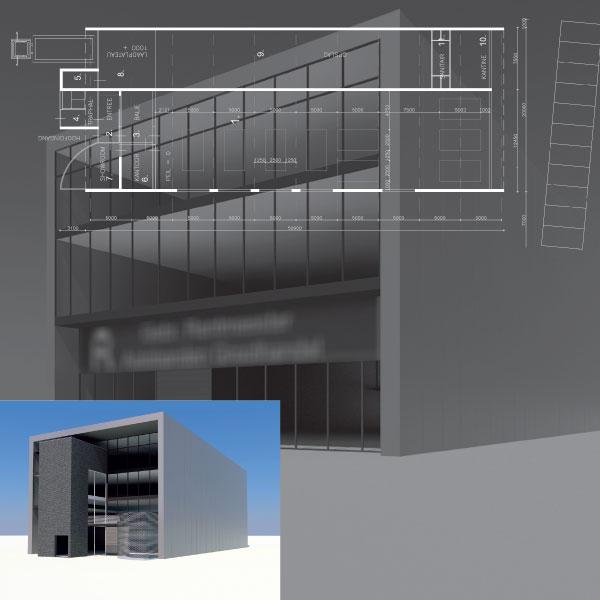 Ontwerp nieuwbouw bedrijfsgebouw te Tilburg